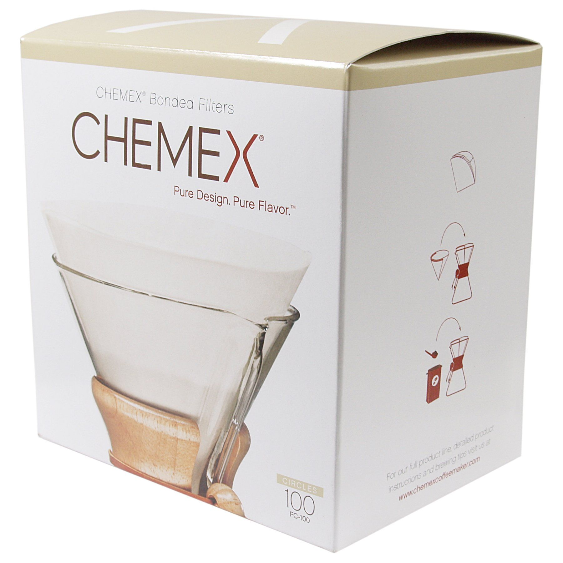 Chemex pre folded circle coffee filter 100 filters