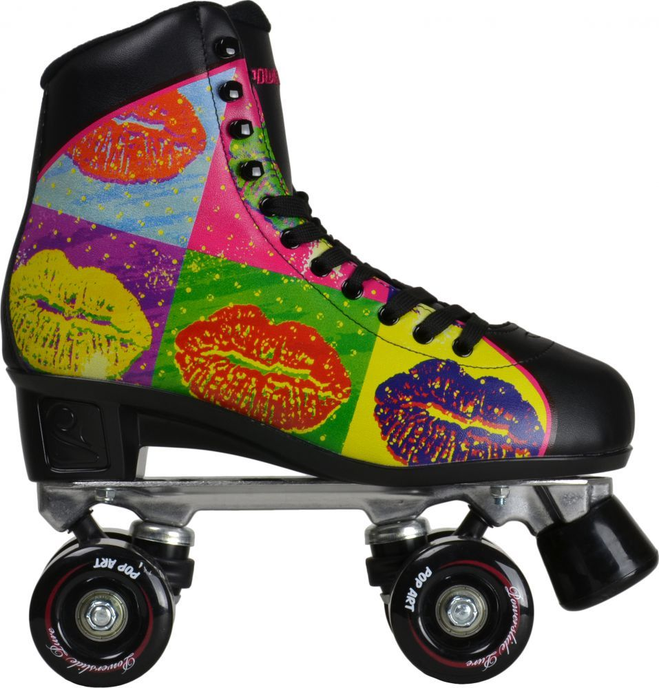Pop out roller skate shoes - Powerslide Pop Art Lips Rollschuhe Skates