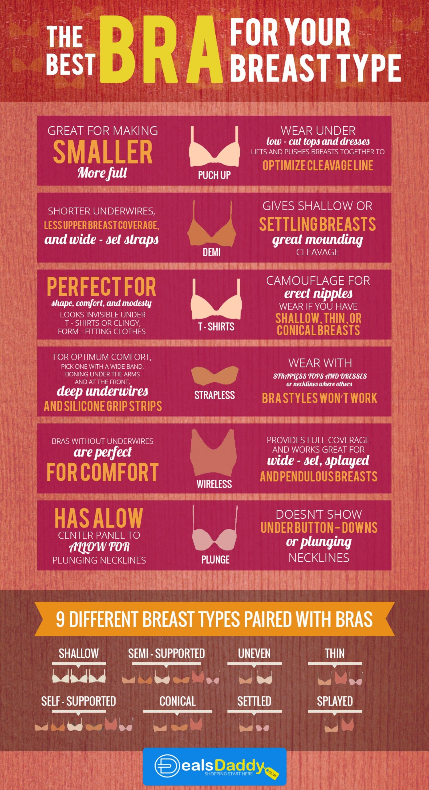 31349657d4 The Best BRA for your Breast Type Infographic