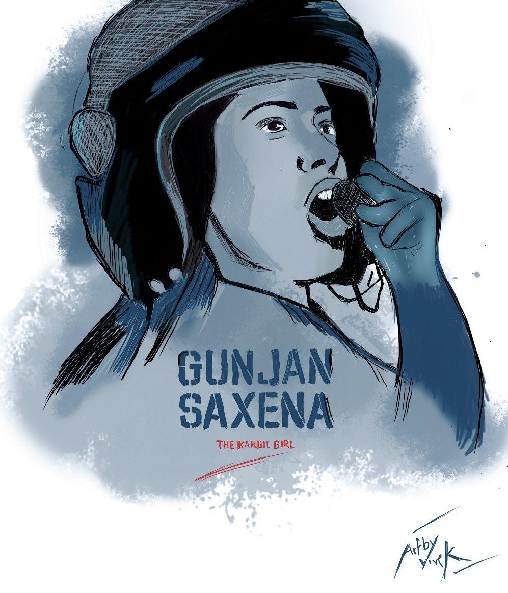 Gunjan Saxena The Kargil Girl Art In 2020 Art Girl Art Sketches