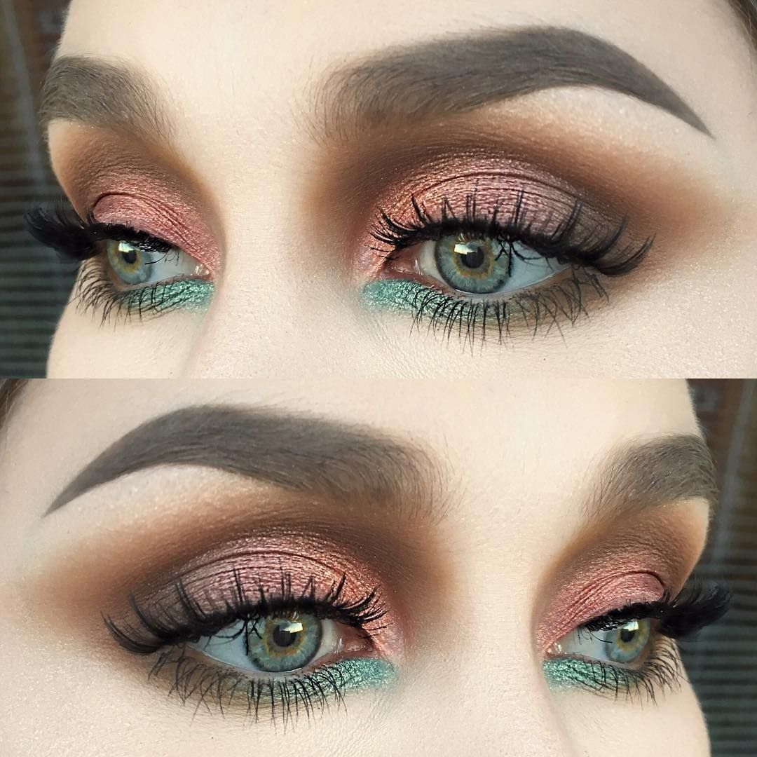 Natural Smokey Lid Bold Bright Green Undereye Eye Makeup Makeup