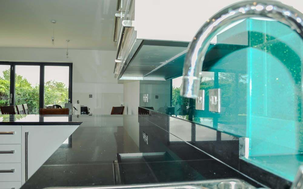 Aqua Green Splashback Crystalline Collection by CreoGlass Design. View more slass kitchen splashbacks on http://www.creoglass.co.uk/kitchen-glass-splashbacks/crystalline-collection/