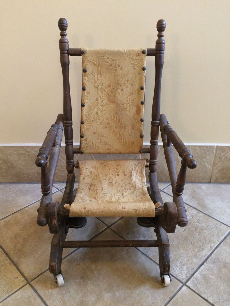 Antique 1800 S Child S Platform Rocker Rocking Chair
