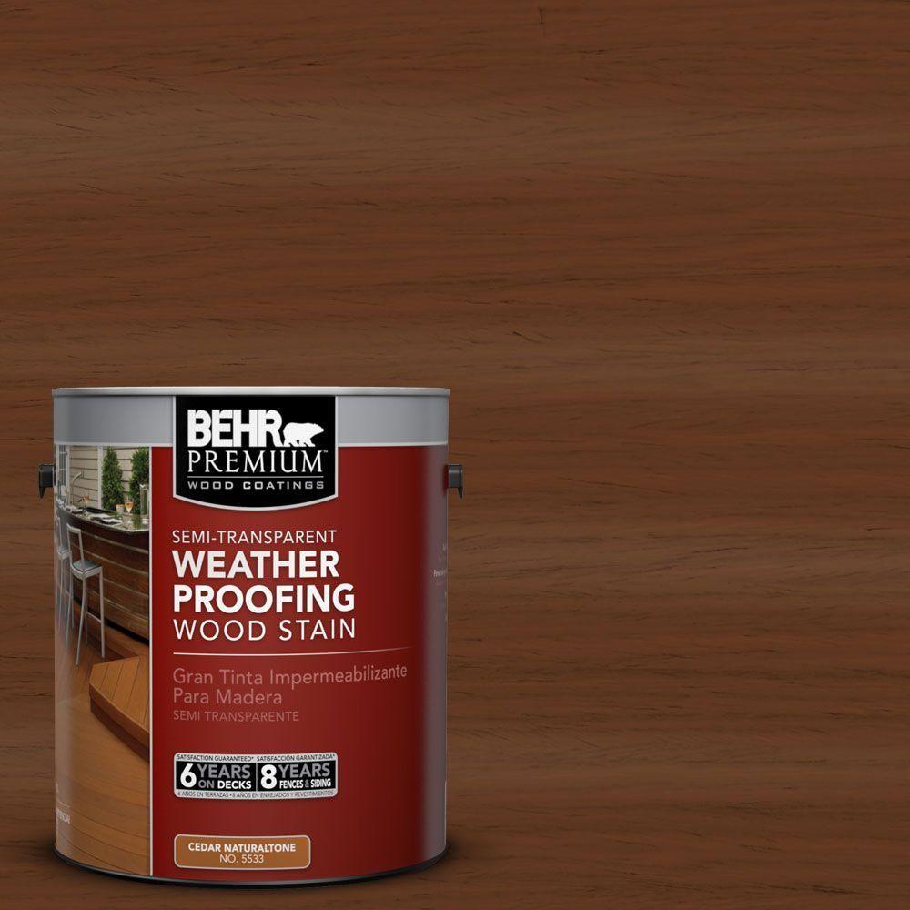 Behr Premium 1 Gal St 110 Chestnut Semi Transparent