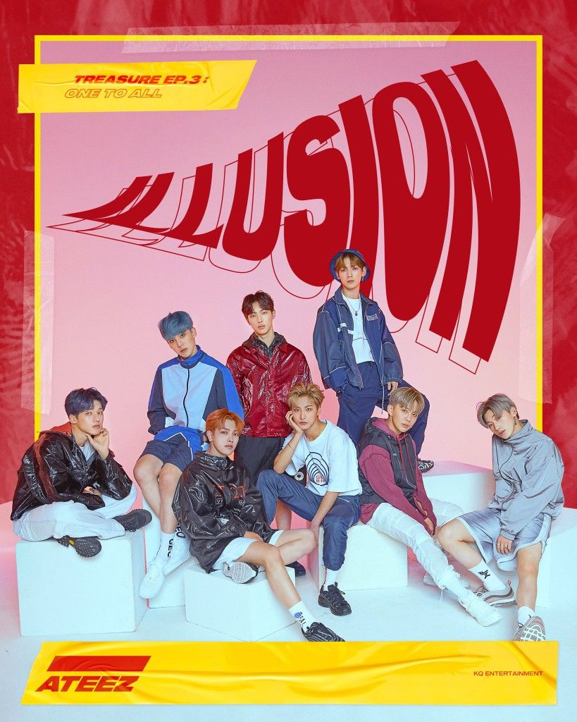 Ateez Twitter Illusion Performance Teaser Poster Kpop Posters Retro Poster Pop Posters