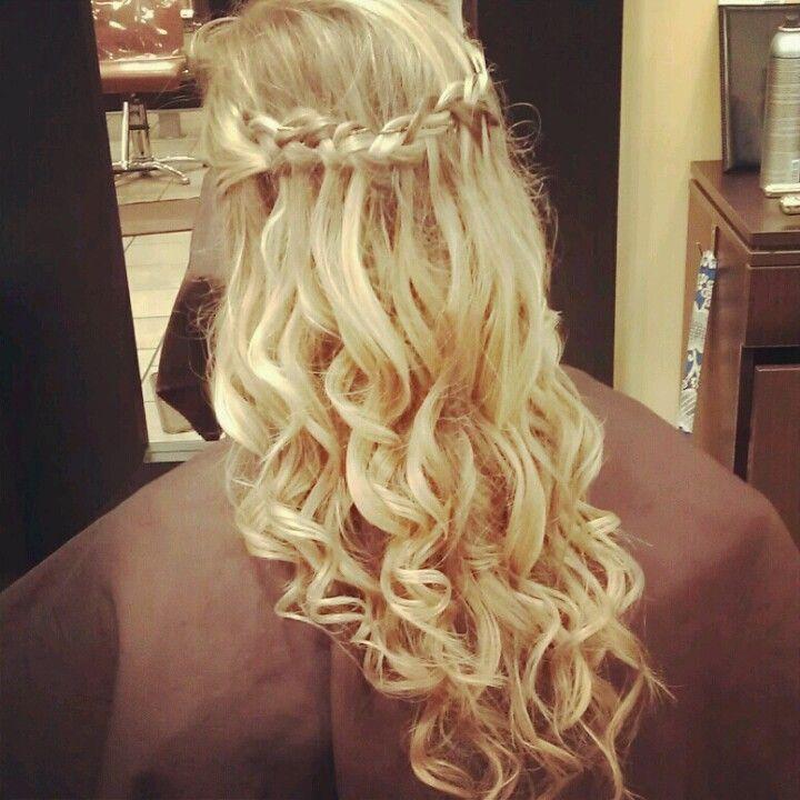 Best 25 Waterfall Braid Prom Ideas On Pinterest