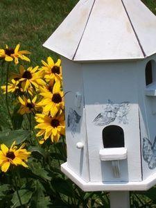 Hexagonal bird house plans