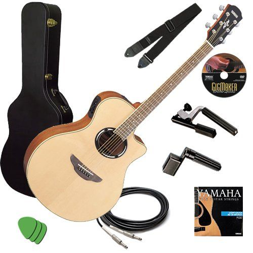 Yamaha Apx500ii Guitar Stage Bundle W Hard Case Capo Strap