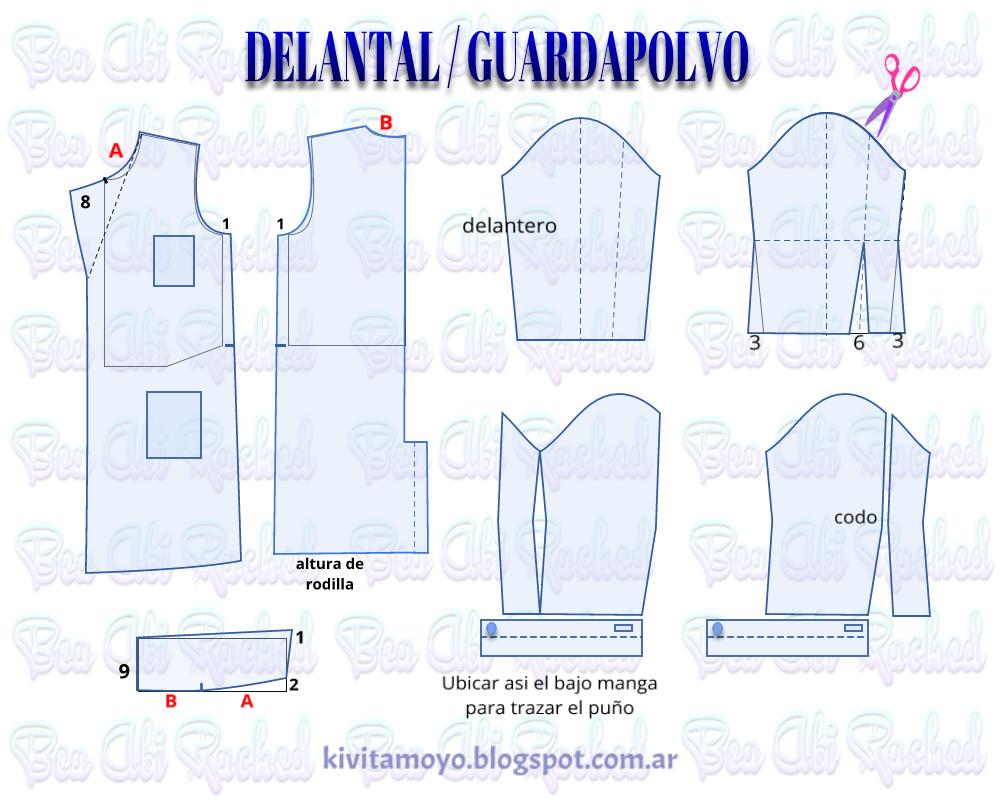 KiVita MoYo: DELANTAL / GUARDAPOLVO | DELANTALES | Pinterest ...