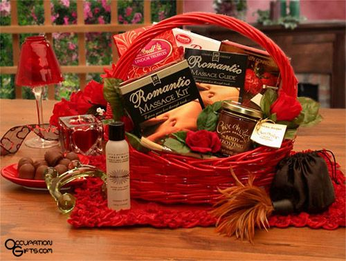 Romantic, massage gift basket.  http://www.buygifts.com/valentines-day-gifts-ideas.html