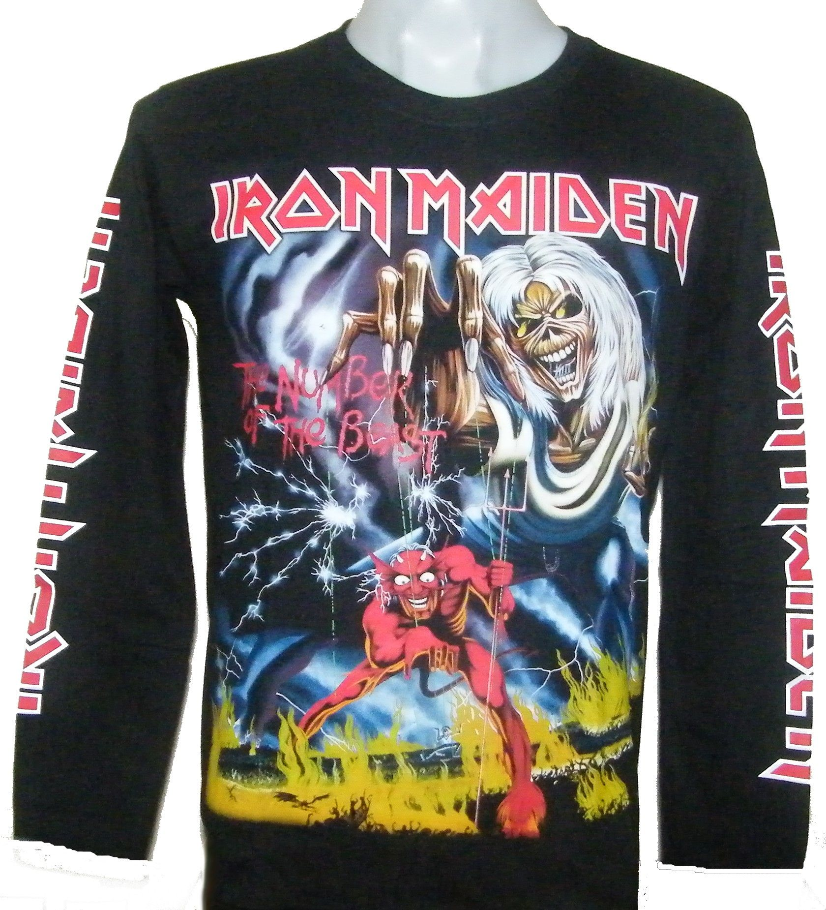 d41dc3c64d71 Iron Maiden long-sleeved t-shirt The Number of the Beast size L – RoxxBKK