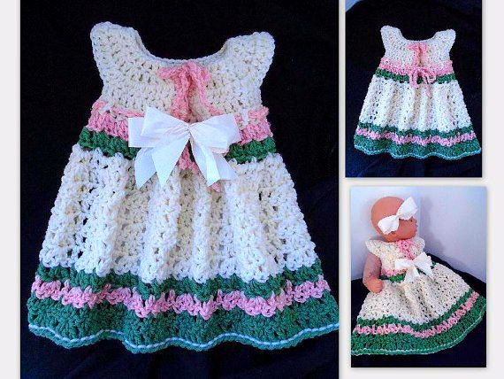 Crochet pattern girls dress baby dress easy crochet childrens crochet pattern girls dress baby dress easy crochet childrens clothing sundress or pinafore newborn to 4 years 775 dt1010fo