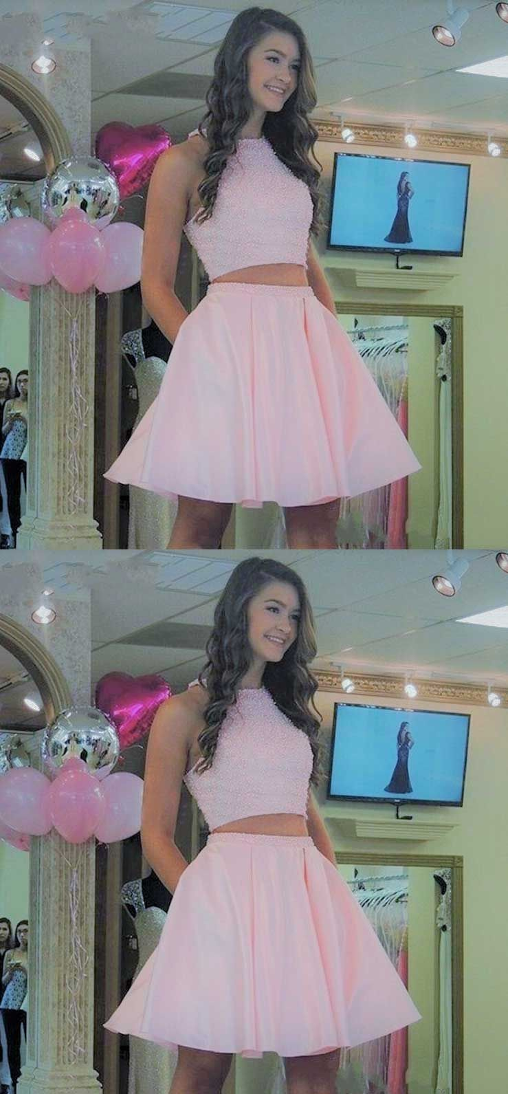 Vintage homecoming dresses sleevelesspink homecoming dresses with