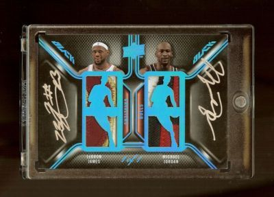Michael Jordan and Lebron james Autographed Logoman | Some ...