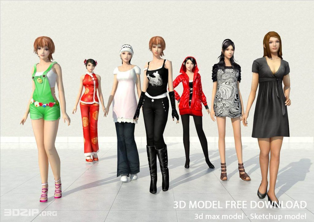 3d People model 4 free download | Other Models in 2019
