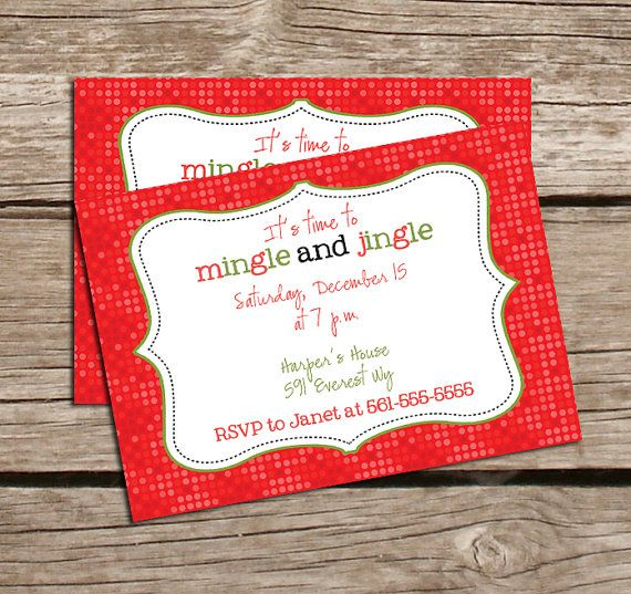 Invite friends over to help decorate with a cute invitation like this - mingle and jingle!!