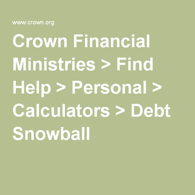 Crown Financial Ministries \u003e Find Help \u003e Personal \u003e Calculators