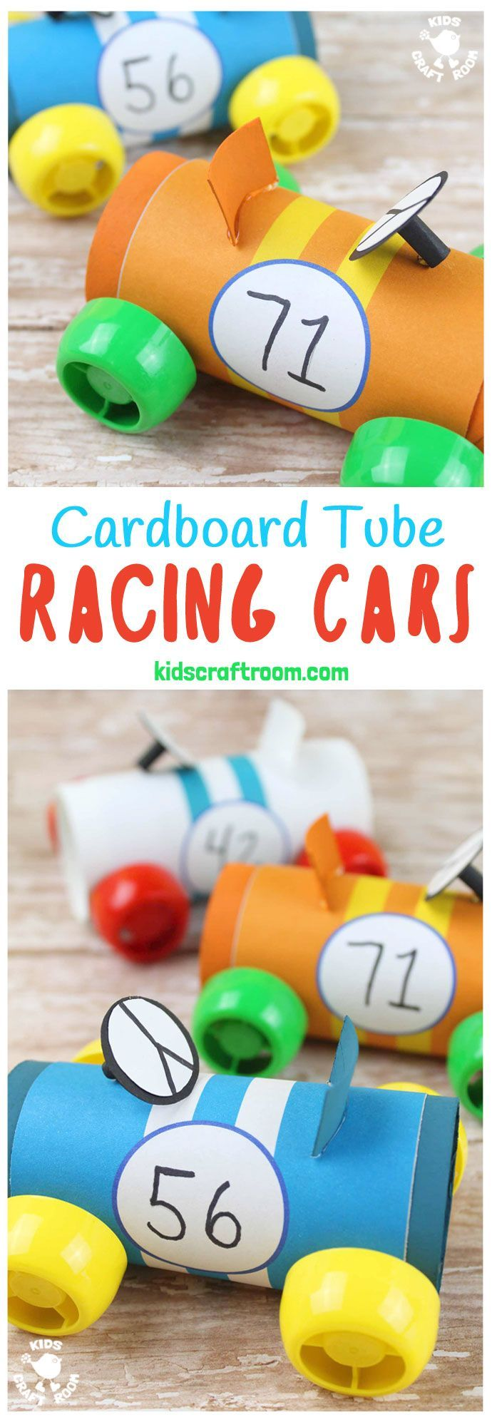 Cardboard Tube Racing Cars Epic Preschool Ideas Pinterest