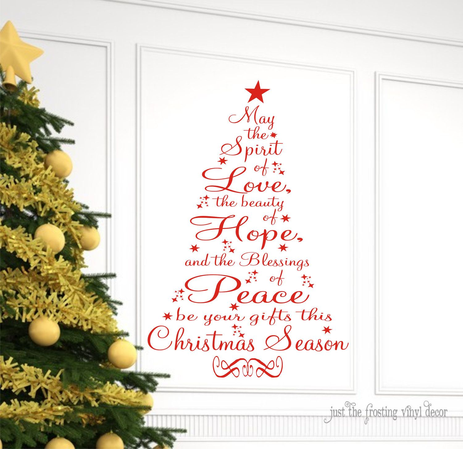 Vinyl lettering decals for crafts - Christmas Prayer Vinyl Lettering Vinyl Decal Wall Art 25 00 Via Etsy