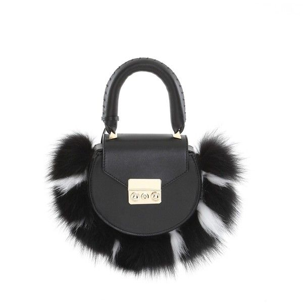 NEW! MIMI MINI FUR BLACK (1.885 BRL) ❤ liked on Polyvore featuring bags, handbags, shoulder bags, fur purse, shoulder handbags, mini handbags, shoulder bag purse and mini shoulder bag