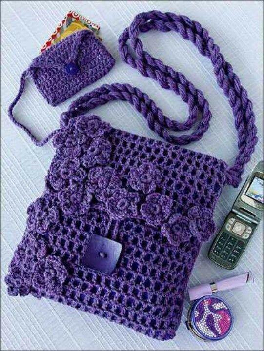 pin von laura lugo auf crochet pinterest h keln tasche h keln und beutel h keln. Black Bedroom Furniture Sets. Home Design Ideas