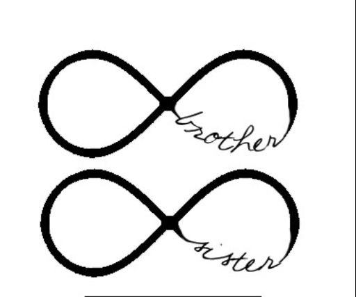 Infinity Brother Sister Tattoos Pinterest Brother Sister And