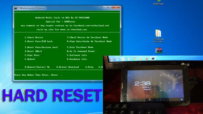 How to Hard Reset China Tablet by Utility Software (With Image