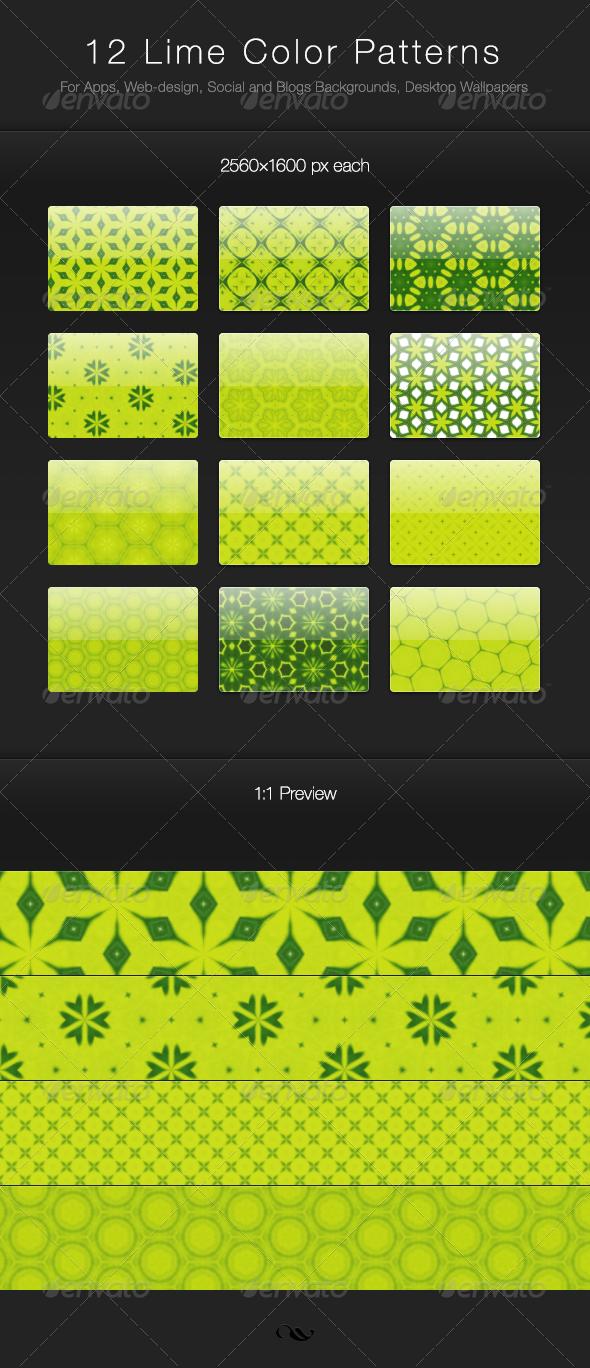 Web colors lime - 12 Lime Color Patterns Graphicriver 12 Lime Color Patterns For Apps Web Design