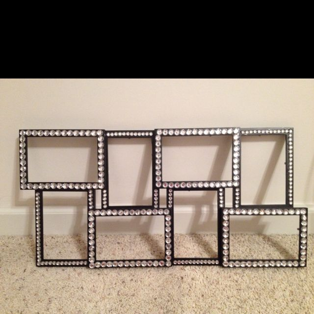 Bedazzled picture frame. | crafts | Pinterest | Crafty, Craft and ...