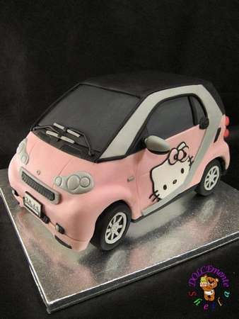 Hello Kitty Car Cake