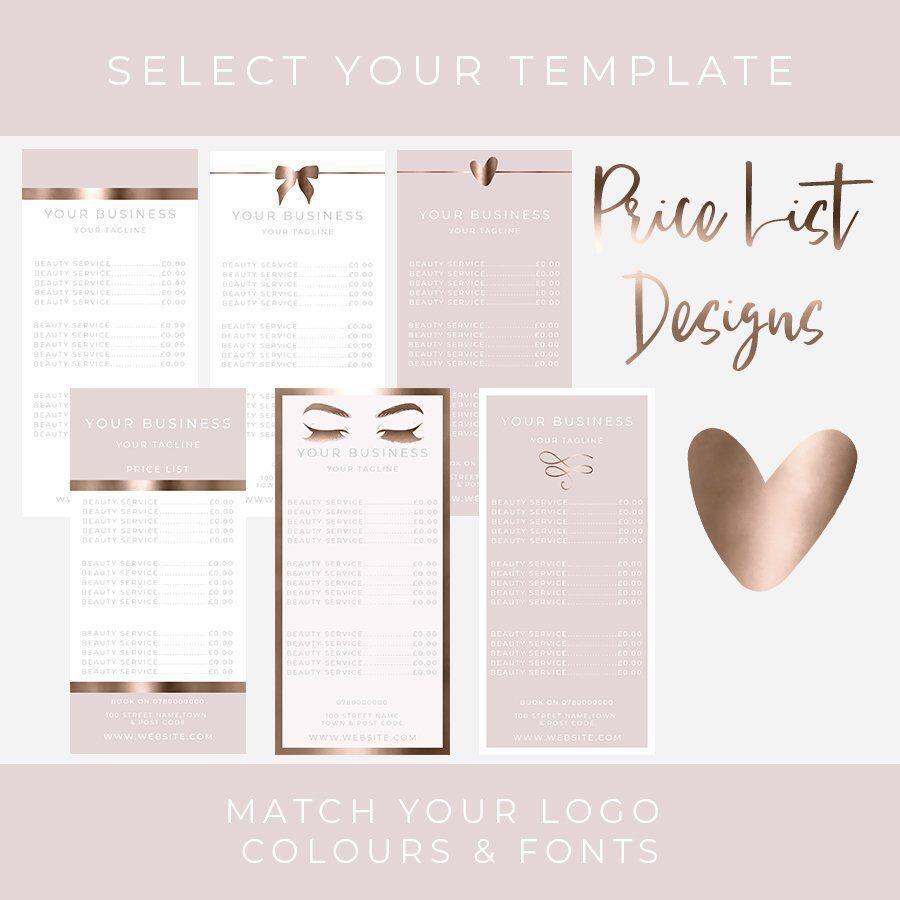Pin Von Ashley Smith Auf Menu Beauty Salon Price List In 2020 Nagelstudio Ideen Kosmetikstudio Flyer Vorlage