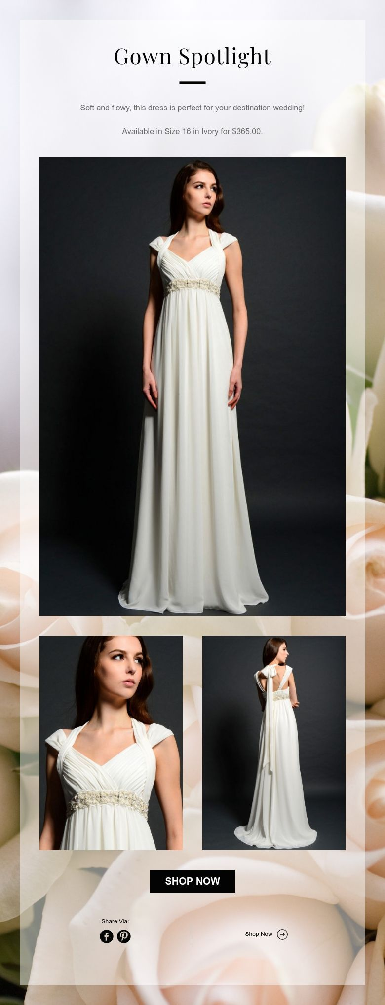 Wedding dress under 500  Grecian style wedding dress  New Never Worn or Altered  wedding