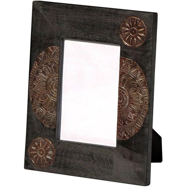 SouvNear Vintage Look Black Wood Photo Frame 4x6 Handmade Decorative ...