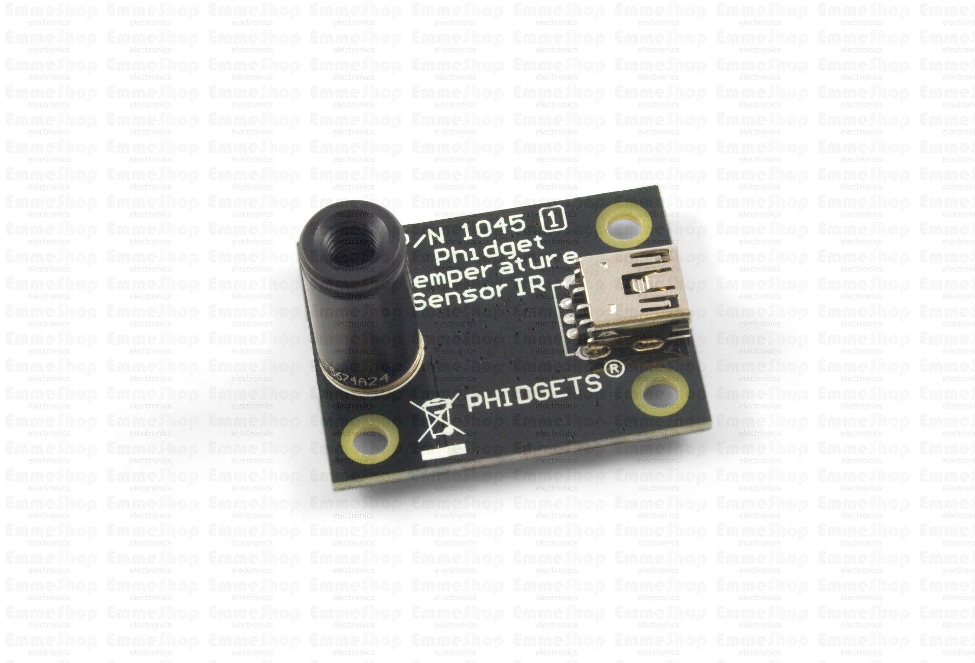1045 1 Phidgettemperaturesensor Ir Measure The Temperature Of An