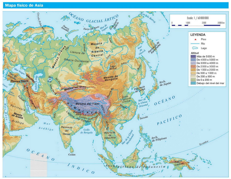 mapa fisico da asia asia mapa mudo fisico   Buscar con Google | MAPAS | Pinterest  mapa fisico da asia