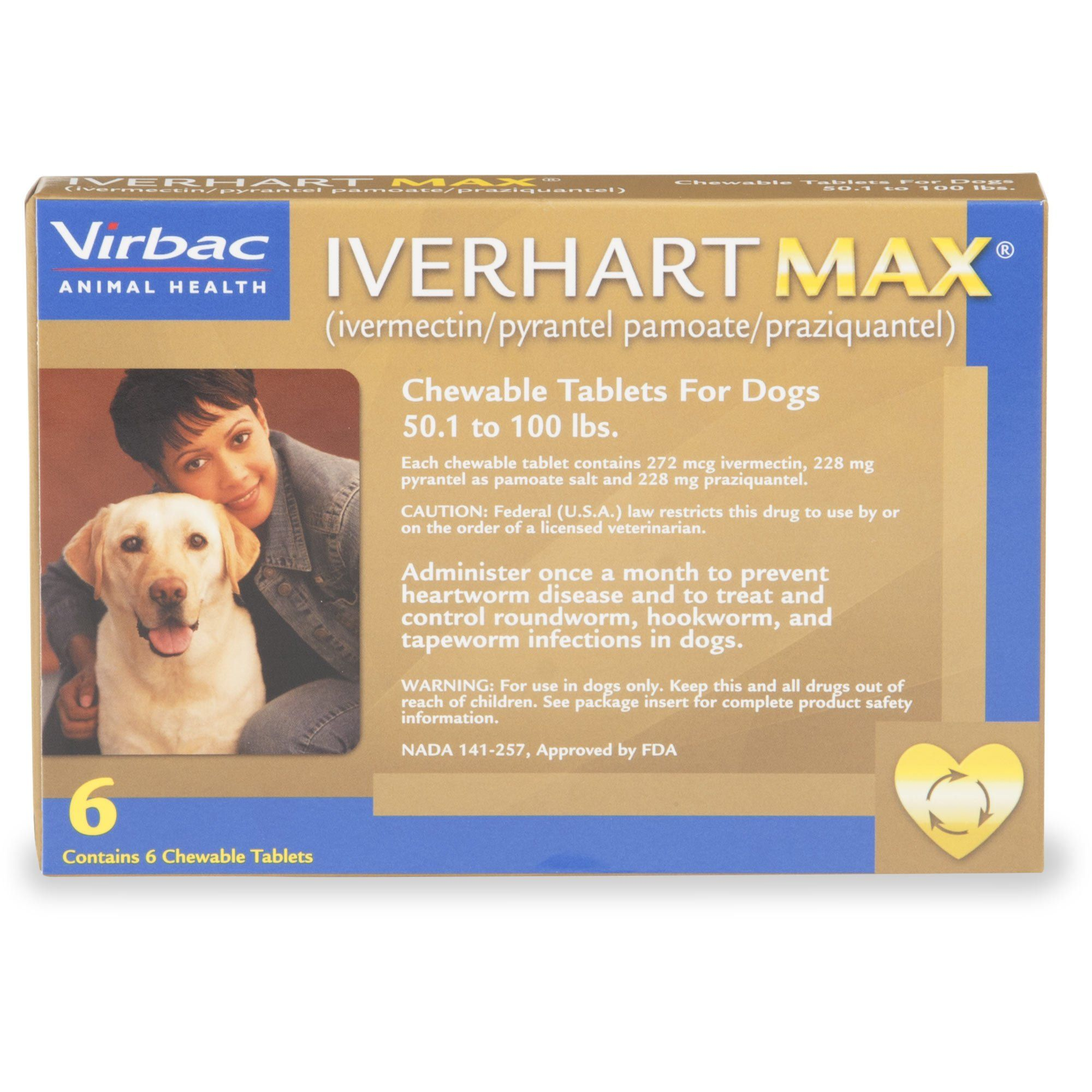 Iverhart Max Soft Chews for Dogs 50 to 100 lbs., 6 Pack