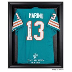 quality design 94c1b 3605e Dan Marino Miami Dolphins Hall of Fame Black Frame Jersey ...