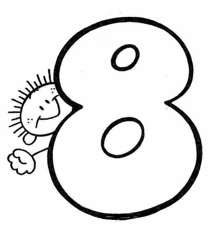Pin De Shaimaa Sayed En 4 Baby Numero Para Colorear Numeros Para Ninos Material Didactico Para Ninos