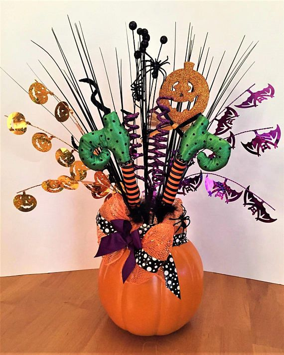 Whimsical Halloween Centerpiece, Witch Centerpiece, Halloween - halloween centerpiece