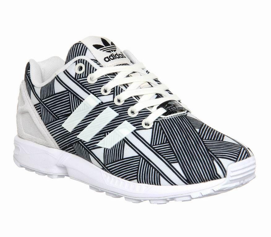 buy online c04a3 f4142 Adidas Zx Flux Unisex Shoes Black White Farm Print W London ...