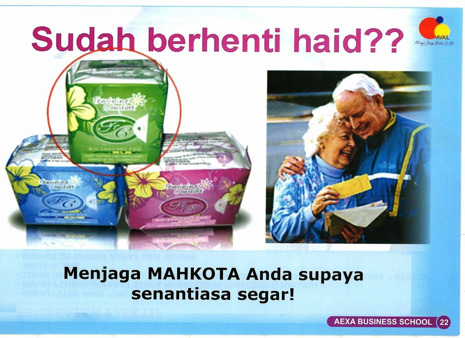 Avail Bali Pembalut Fc Bio Sanitary Pad Herbal Menjaga Mahkota
