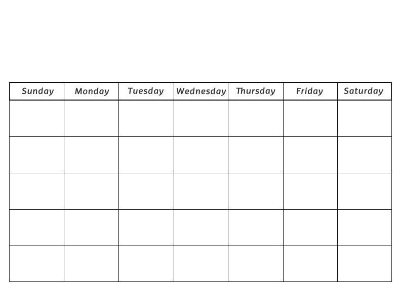 Blank 30 day calendar pages blank calendar pinterest for 3 day calendar template