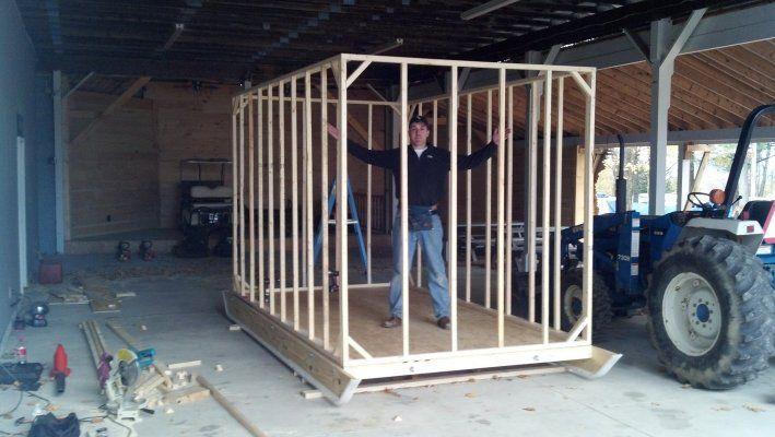 Portable ice fishing shanty plans iceshanty building for Ice fishing shanty plans