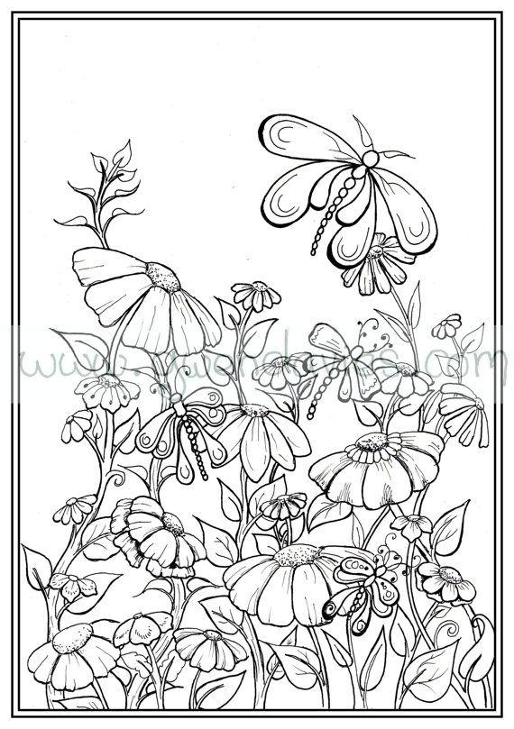 Adult colouring in PDF download garden henna zen mandalas ...
