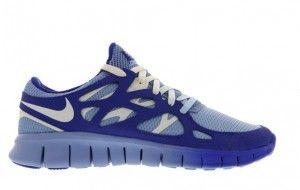 Acheter Fitness baskets Nike Free Run 2 Femme navy et bleu nuit et bleu clair et blanche discount France