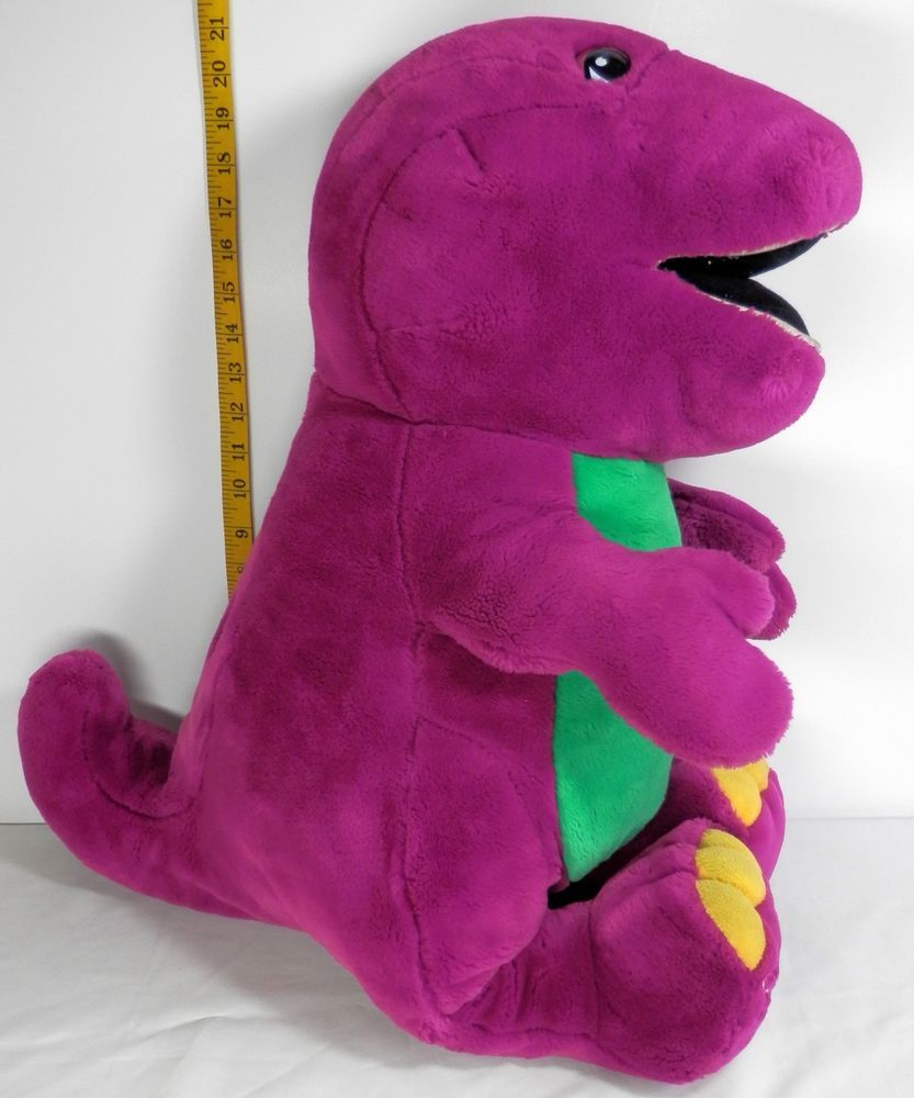 Barney Purple Dinosaur Plush Large 28 Stuffed Animal Lyons Very