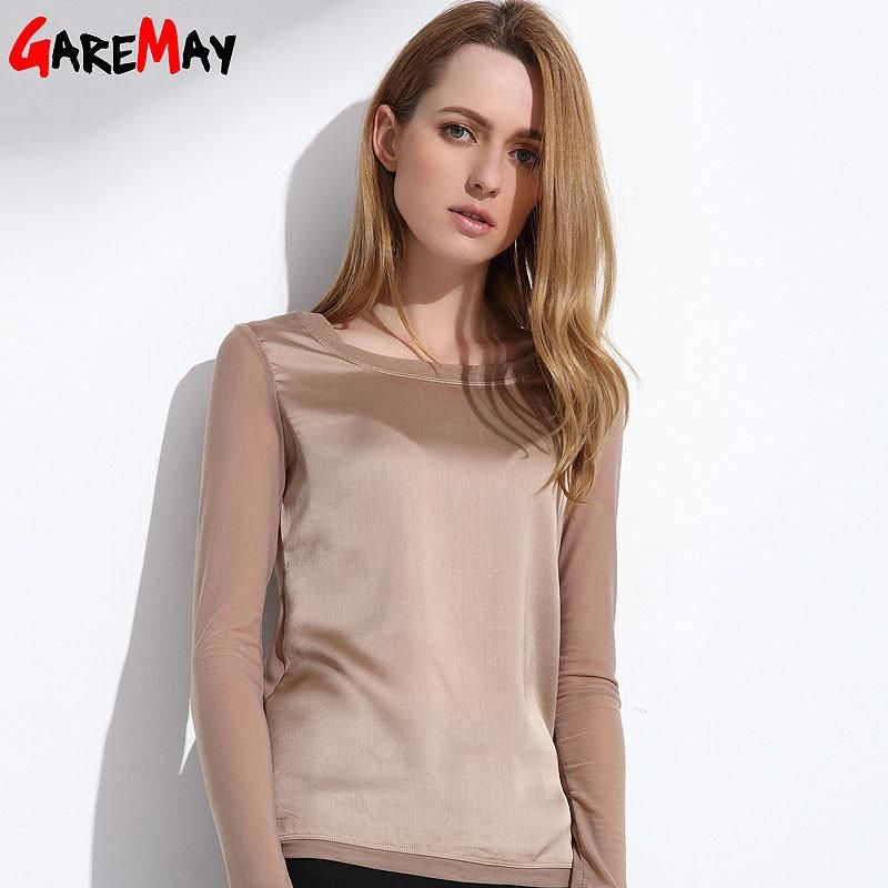 4a76d4ed5d8c1 Women s shirts Blouses 2017 long sleeve formal chiffon blouses white black 9  color silk tops and tees slim Y046  model  pretty  cool  style  iwant   stylish ...