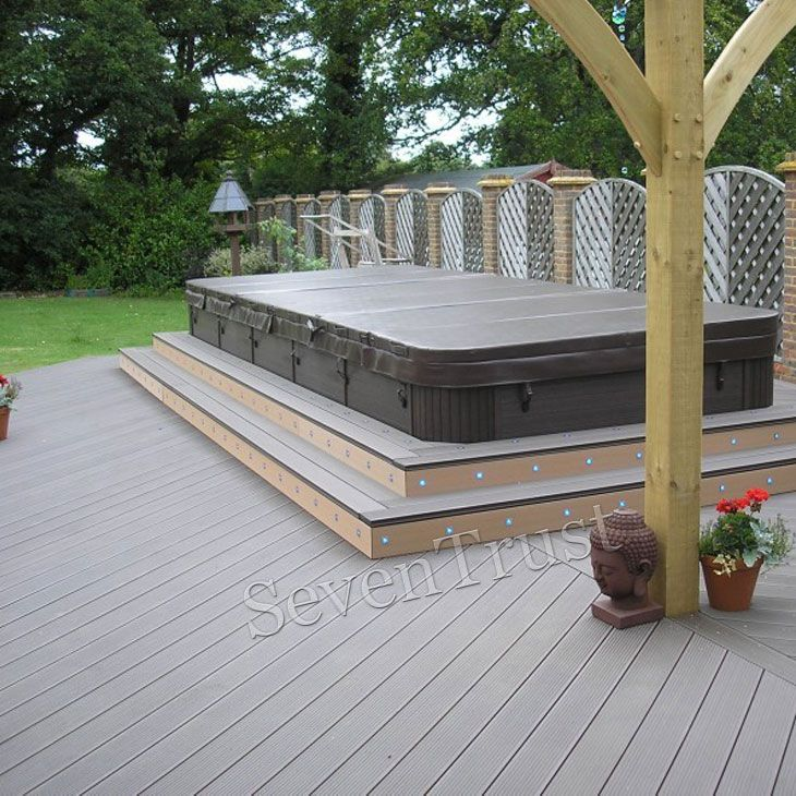 Wood Plastic Deck Composite Material Composite Decking Outdoor Flooring Deck
