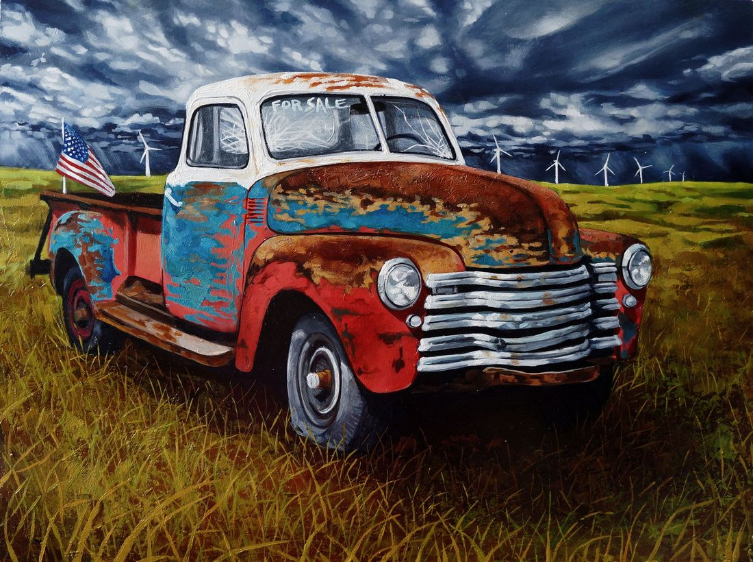 old car | Vintage pickup trucks | Pinterest | Car painting, Cars and ...