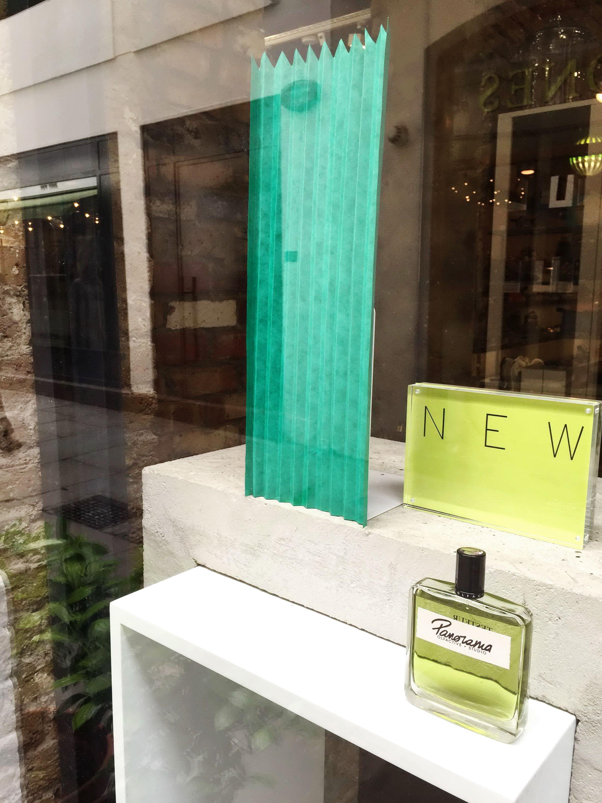 Panorama window at Bloom Perfumery